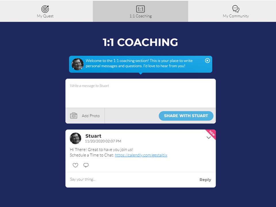 Quest Coach Screen