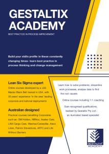 Academy flyer